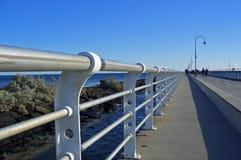 Melbourne pier Stock Image