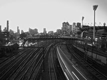 Melbourne pociąg obraz royalty free