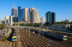 Melbourne pociągi zdjęcie stock