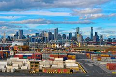 Melbourne port Stock Image