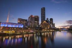 Melbourne prima del tramonto Fotografia Stock
