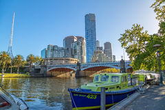 Melbourne Princes bridge cityscape Royalty Free Stock Photo