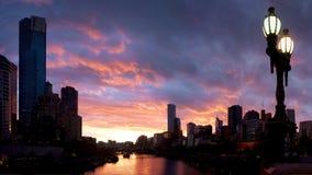 Melbourne przy półmrokiem obrazy stock