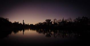Melbourne przy półmrokiem zdjęcie stock