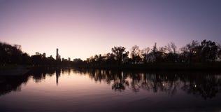 Melbourne przy półmrokiem zdjęcia royalty free