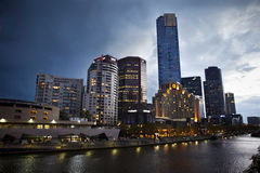 Melbourne riverside Royalty Free Stock Photo