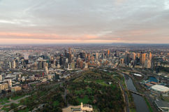 Melbourne with the Royal Botanic Garden Stock Photos