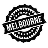 Melbourne rubber stamp Royalty Free Stock Image