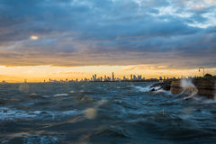 Melbourne's changing weather Royalty Free Stock Photos