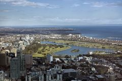 Melbourne's F1 GP Circuit. Melbourne South East suburbs featuring the Formula 1 GP circuit 'Albert Park Royalty Free Stock Images
