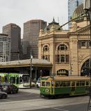 Melbourne ` s Staples in Één Schot royalty-vrije stock afbeeldingen