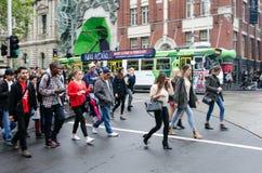 Melbourne - scène de rue Image libre de droits