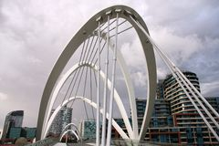 Melbourne Seafarers Bridge Stock Photo