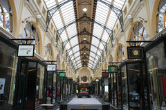 Melbourne shopping. MELBOURNE - FEBRUARY 10: Royal Arcade on February 10, 2009 in Melbourne, Australia. The heritage shopping passage is one of the most famous Stock Image