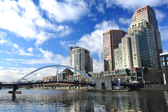 Melbourne-Skyline stockbild