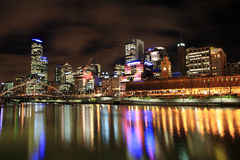 Melbourne-Skyline Stockfoto