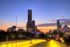 Melbourne-Skyline Stockfotos