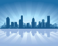 Melbourne skyline Stock Photography