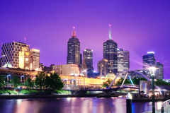Melbourne-Skyline Stockfoto