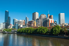 Melbourne-Skyline Lizenzfreie Stockfotos