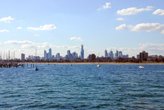 Melbourne-Skyline. Stockbilder
