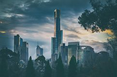Melbourne skyline royalty free stock image