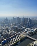 Melbourne skyline from above. Imagine was taken from the Eureka skydeck 88 building. The talest in the southern hemisphere Royalty Free Stock Photos