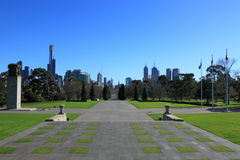 Melbourne skyline cityscape day Stock Photos