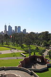 Melbourne skyline Botanic garden  Stock Images