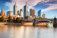Melbourne-Skyline Stockbild