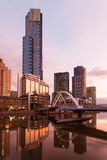 Melbourne Skyline at Dusk Stock Photography