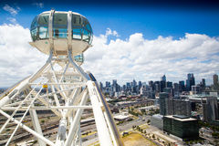 Melbourne skyline from Melbourne Star Royalty Free Stock Image