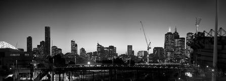 Melbourne skyline Stock Photos