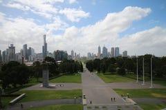 Melbourne Skyline Stock Photography