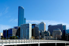Melbourne Skyline and Queens Bridge Royalty Free Stock Photo