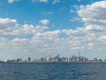 Melbourne skyline seen from Port Phillip Bay Stock Photography