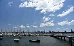 Melbourne skyline from St Kilda Royalty Free Stock Image