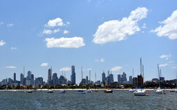 Melbourne skyline from St Kilda Royalty Free Stock Photography