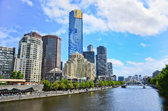 Melbourne skyline in summer Royalty Free Stock Images