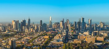 Melbourne Skyline Sunrise. Melbourne City Skyline from nothern side at Sunrise Royalty Free Stock Image