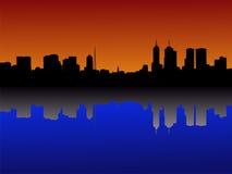Melbourne Skyline at sunset Stock Photo