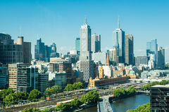 Melbourne Skyline  Towards Flinders St Royalty Free Stock Images