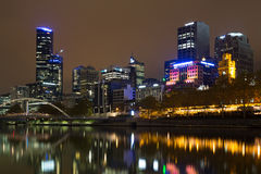 Melbourne skyline view over the Yarra River Royalty Free Stock Images