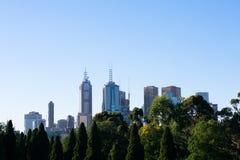 Melbourne-Skylineansicht lizenzfreie stockbilder