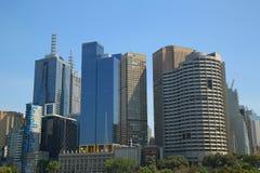 Melbourne-Skylinepanorama Stockbilder