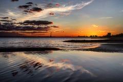Melbourne solnedgångar Arkivfoto