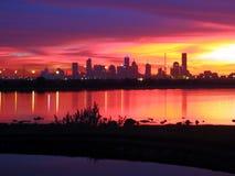 Melbourne-Sonnenaufgang Lizenzfreie Stockbilder