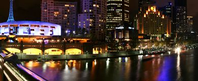 Melbourne - Southbank. Melbourne, Australia - Southbank area on the Yarra River royalty free stock photography