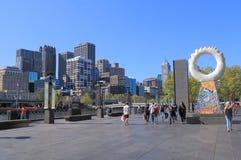 Melbourne Southbank cityscape Australia Stock Image