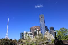 Melbourne Southbank Eureka SkyDeck. View of Southbank south bank of Yarra river, Melbourne, Australia: Eureka SkyDeck 88 Royalty Free Stock Image